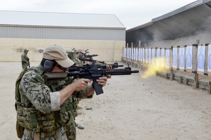 Naval Special Warfare Reservists from a West Coast-based SEAL Team conducted field training