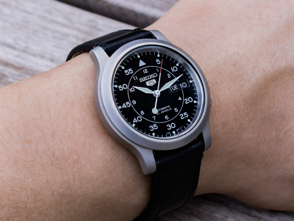 Seiko SNK809: Widely considered the best entry-level automatic watch