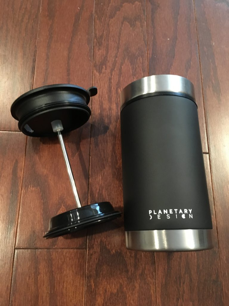Enjoy coffee on your next adventure with the Steel Toe Coffee Press from Planetary Design