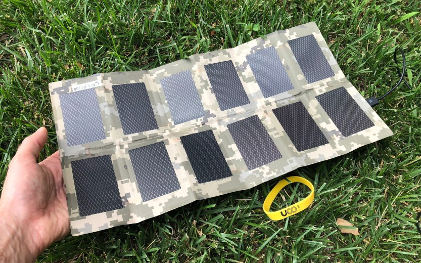 Never without power again: UCO Gear flexible folding solar panel charger