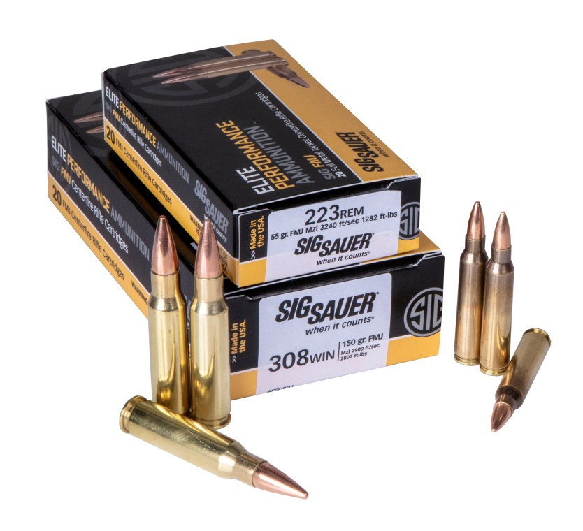 SIG SAUER's New 223 Rem and 308 Win FMJ Rifle Ammunition
