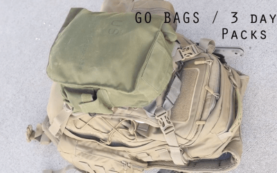 Basic setup for go-bags and 3 day assault packs