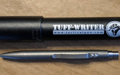Tuff Writer Mini Click Titanium Blasted Finish
