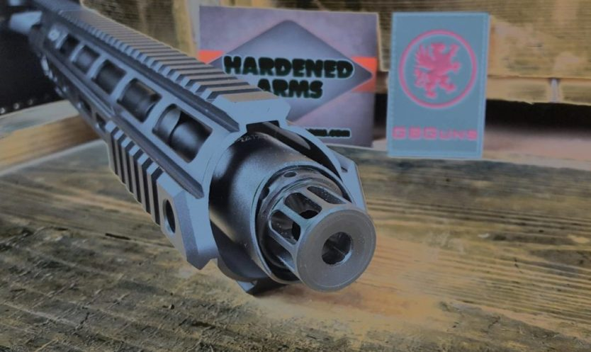 Hardened Arms: Crucible and Linear Muzzle Compensator