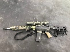 """Recce"" style rifle with Vortex 2.5×10 MRAD scope"