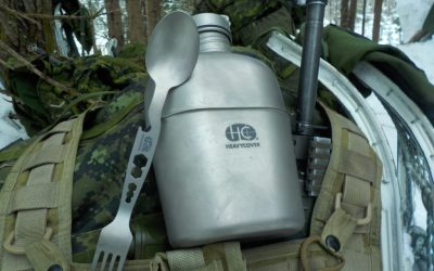 Heavy Cover US GI style titanium canteen mess kit