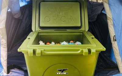 Up to 200 hours of ice cold beer with the ORCA 40 Quart Cooler