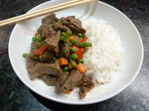 Chinese style beef stir fry