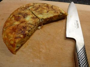 Spanish tortilla with chorizo