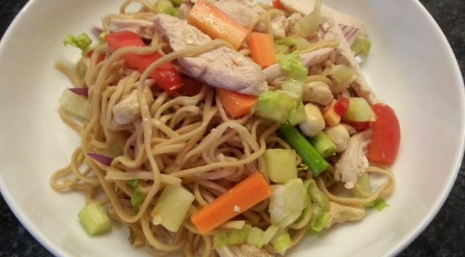 Thai chicken & prawn noodle salad