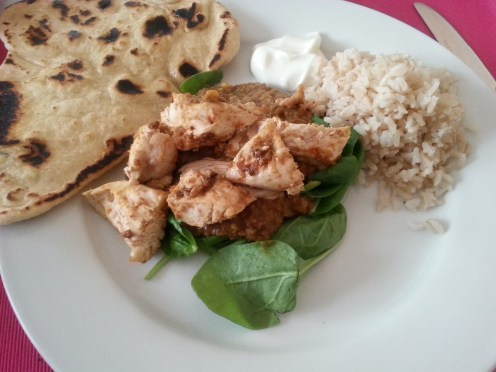 Chicken with Indian chutney