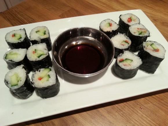 smoked mackerel sushi