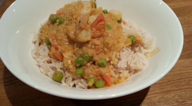Madras prawn curry