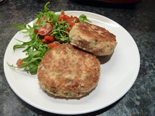 salmon and salsa verde fishcakes