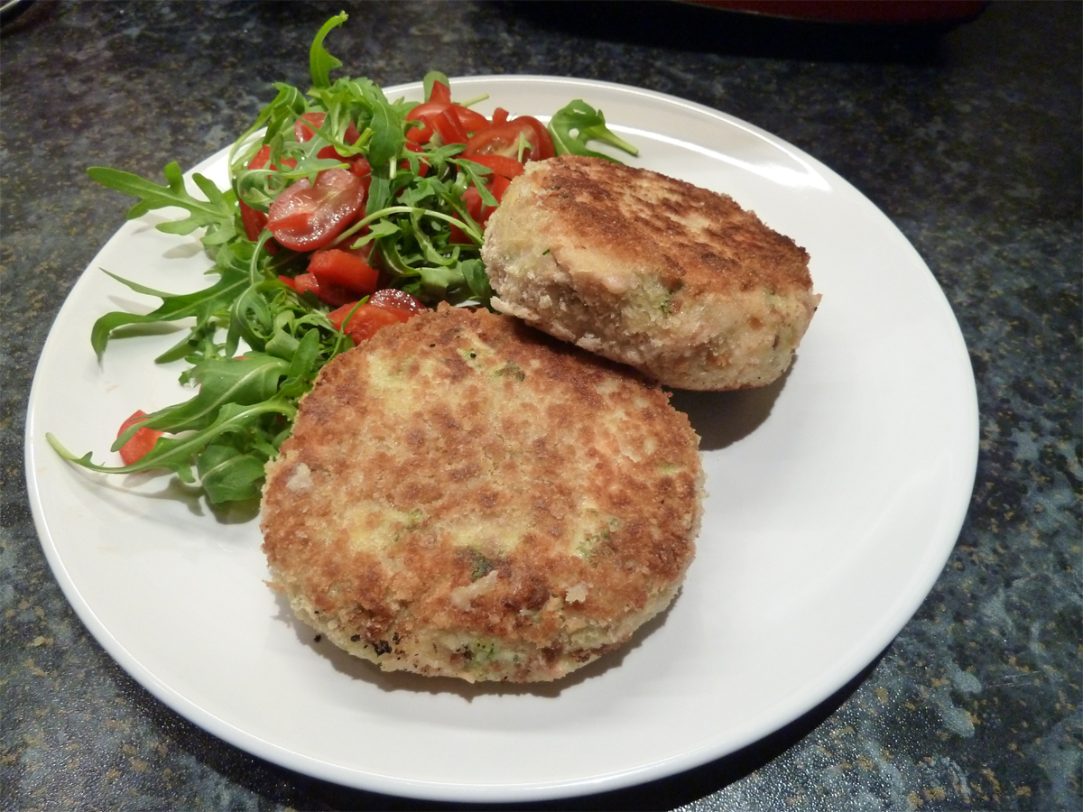 salmon and salsa verde fishcakes