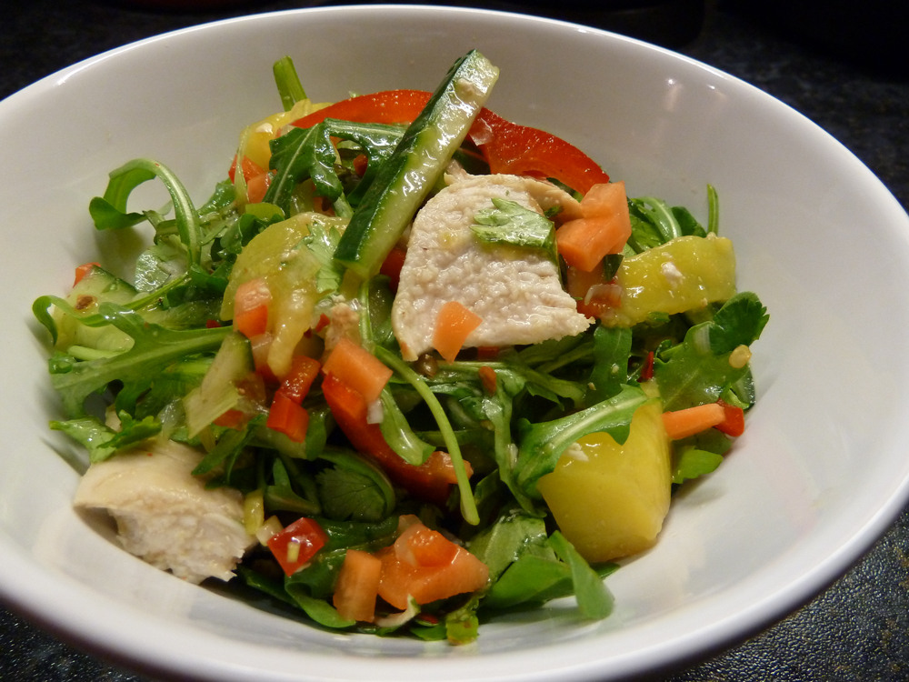 mango and chicken salad