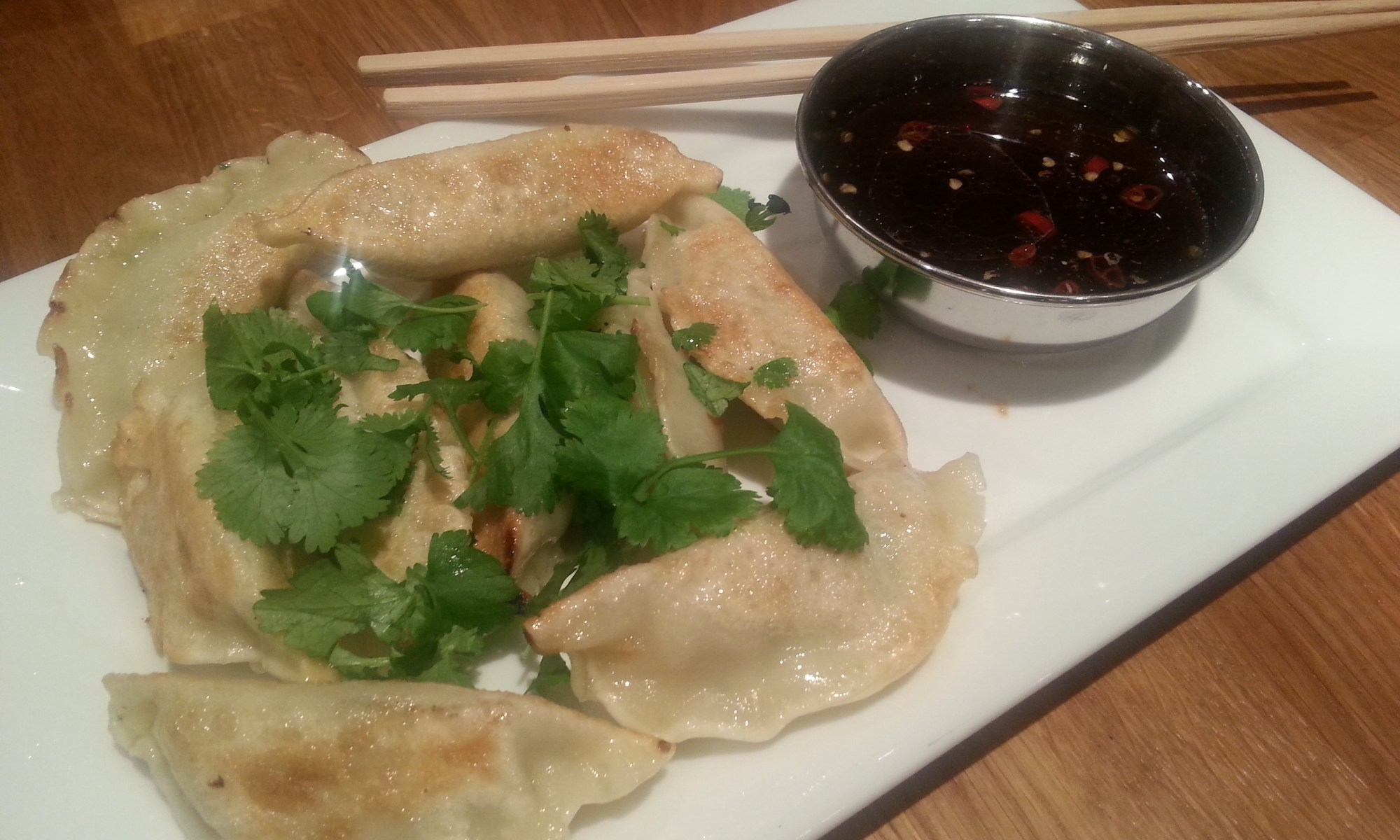 pork and prawn gyoza