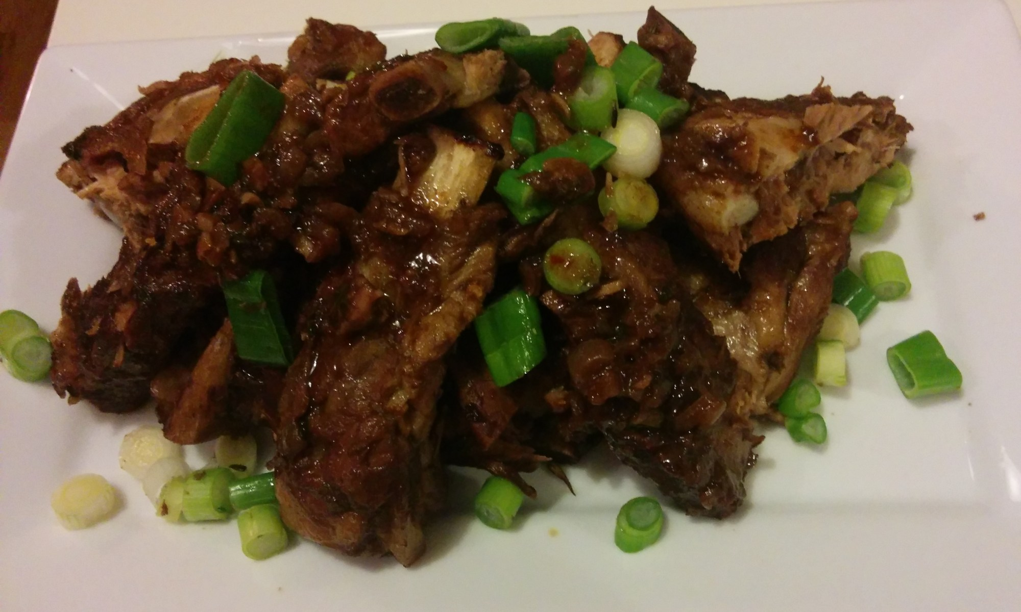 Oven braised spicy pork ribs
