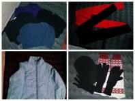 Thermal tops, thermal leggings, gloves, bonnet, arm warmer, winter jacket