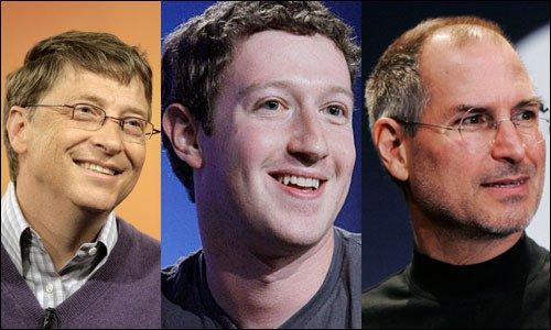 Image result for zuckerberg gates jobs