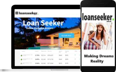 LoanSeeker screen shots on computer and phone
