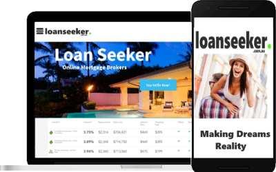 LoanSeeker screen shots on computer and phone