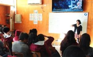 Loba Ediciones en el Colegio Pedro Apóstol de Puente Alto