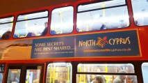 Occupied Cyprus London tube advert