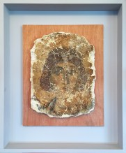 Martyr: 12th century recovered and restored fresco from the Monastery of Aspinthiotissa, Kyrenia, occupied Cyprus. The fresco was presented by Tasoula Hadjitofi or Walk of Truth at her 'Blood, Treasure and Islamic State: War, Extremism and the Looting of Culture' presentation at the House of Lords, 2014. Photo © CE/Lobby for Cyprus