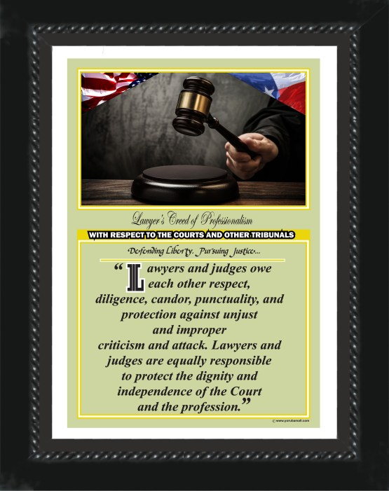 Texas State Lawyer's Creed BLK5 Prints