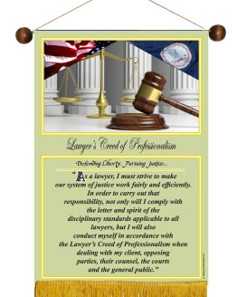 VIRGINIA STATE LAWYER'S CREED BANNER 1