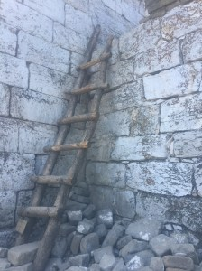 Ladder to get onto the wall