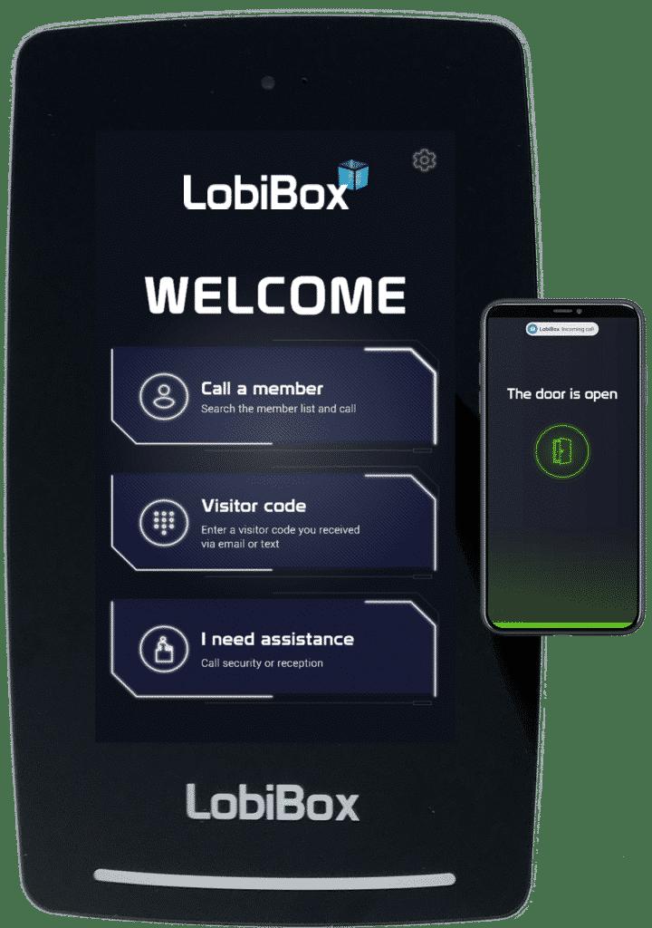 LobiBox Visitor Unit With Mobile App Door Open Screen