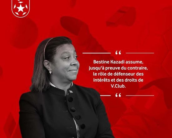 AS V Club au féminin : Bestine Kazadi élue