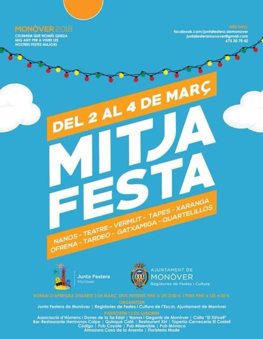 Cartel Mitja Festa Monóvar 2018