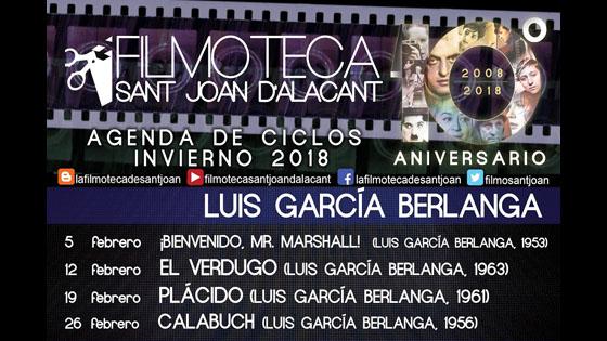 Filmoteca de Sant Joan d'Alacant rinde homenaje a Luis García Berlanga con 4 proyecciones en febrero