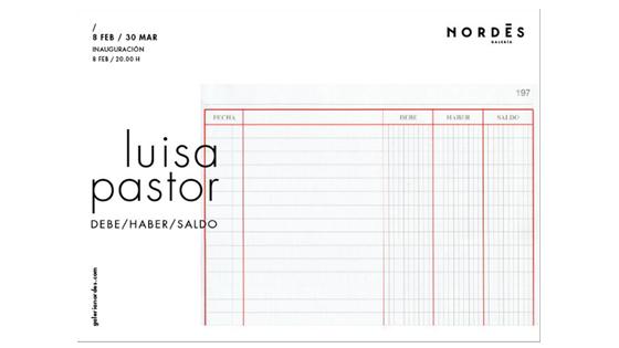 Artista alicantina Luisa Pastor presenta DEBE/HABER/SALDO en Galicia