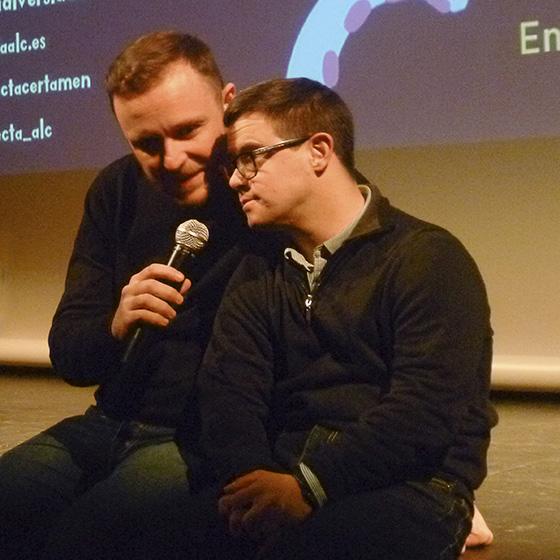 """Salva Albert, actor y Josevi García Herrero, director de """"Distintos"""". Foto: MVelandiaM"""