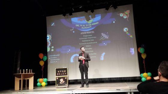 Presentación Mago Dalux, Gala Proyecta Alc Foto: Asociación Mediterrània Audiovisual