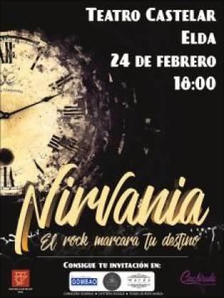 Cartel Nirvania, Teatro Castelar Elda. Cachirulo Teatro.