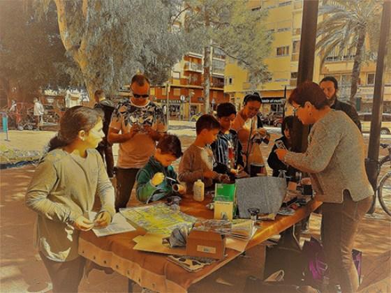 Talleres en la 1er Muestra Eco-Artísticas. Foto: Juanjo Cervetto