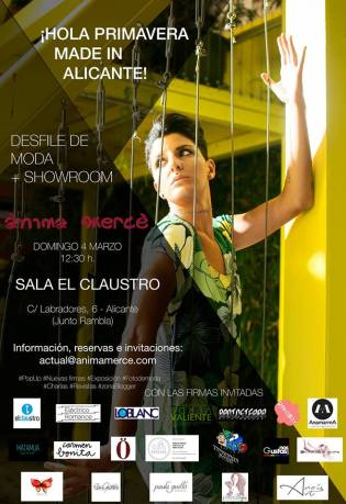 Cartel de Hola Primavera Made in Alicante