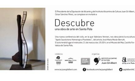 «Descubre una obra de arte» analiza la escultura del artista José María Morant Berruti en Santa Pola