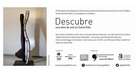 """""""Descubre una obra de arte"""" analiza la escultura del artista José María Morant Berruti en Santa Pola"""