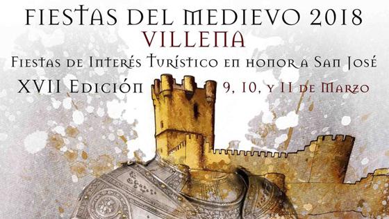 """Viaja a la Edad Media visitando Villena durante las """"Fiestas del Medievo 2018"""" entre el 9 y el 11 de marzo"""