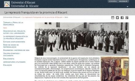Universidad de Alicante da acceso público a base de datos con más de 20.000 nombres de represaliados por el franquismo