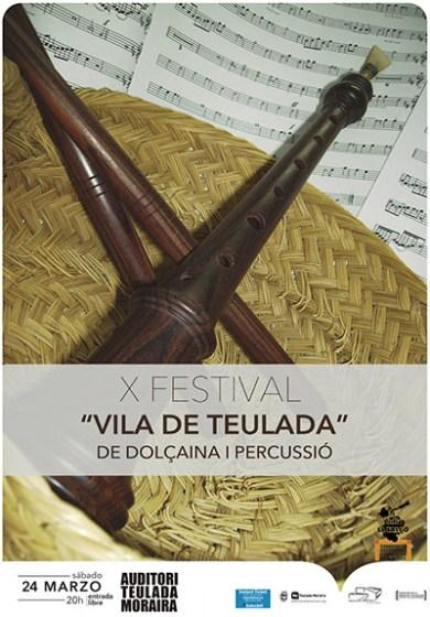 """X Festival """"Vila de Teulada"""" de Dolçaina i Percussió"""
