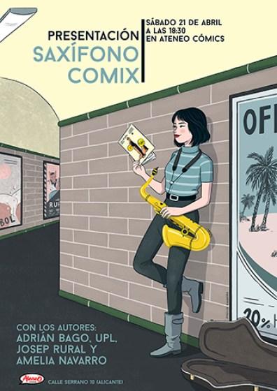 Cartel Presentación Saxífono Comix