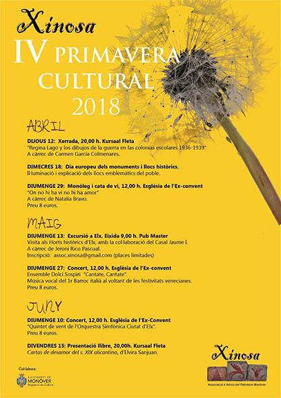 Cartel Primavera Cultural Xinosa