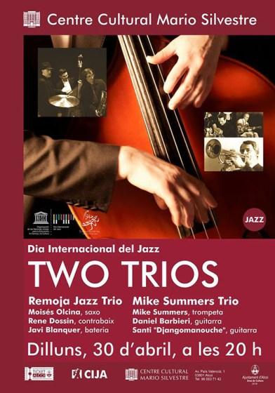 Cartel Two Trios Centro Cultural Mario Silvestre de Alcoy